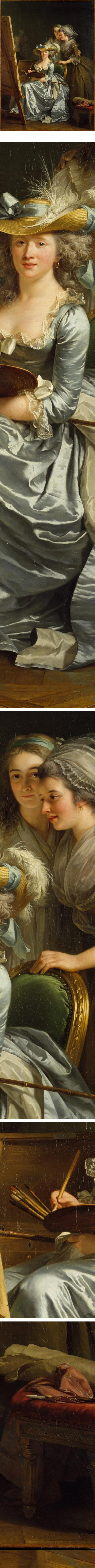 Self-Portrait with Two Pupils, Adelaide Labille-Guiard