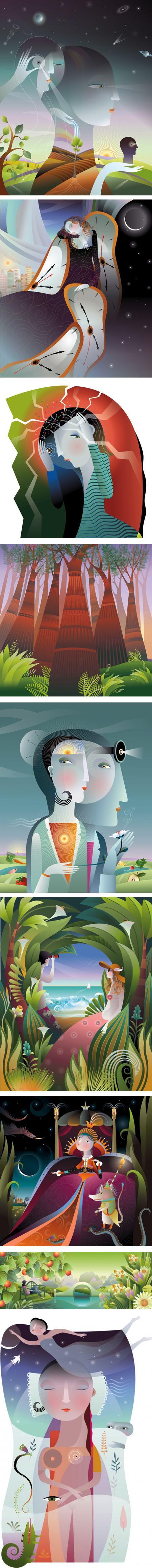 Christiane Beauregard, vector illustrations