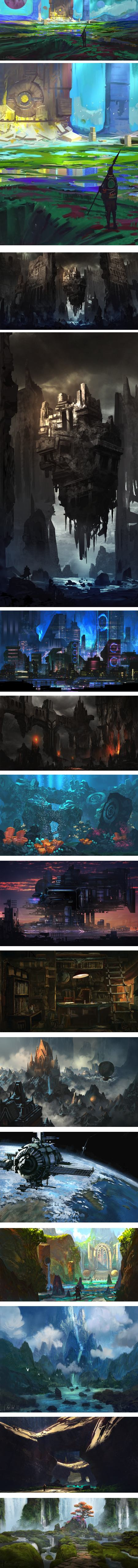 Kalen Chock, concept environments and visual development art