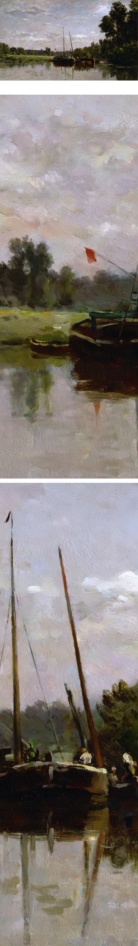 Les peniches, Charles-François Daubigny