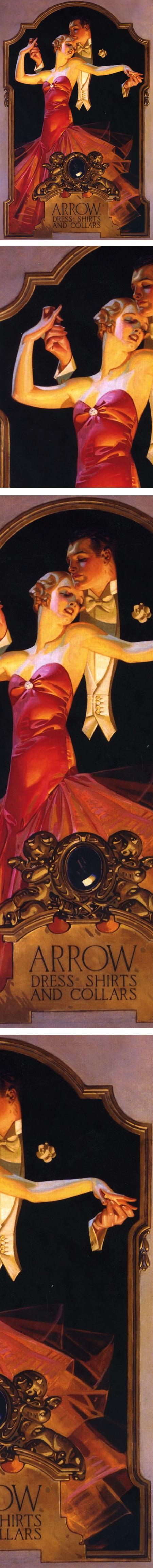 Illustration for Arrow Shirt advertisement, JC Leyendecker