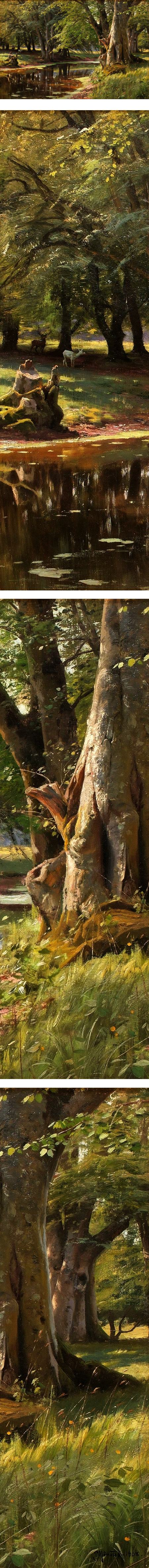 Skogslandskap (forest landscape), Peder Mork Monsted