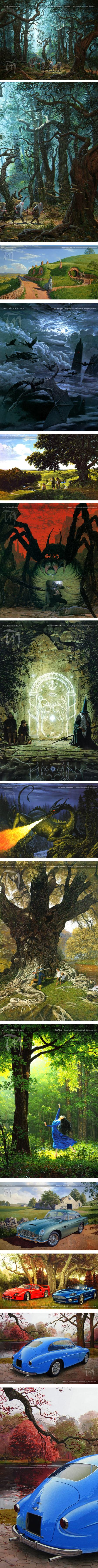 Ted Nasmith, illustrations of  J.R.R. Tolkien's Lord of the Rings and The Hobbit, George R.R. Martin's Game of Thrones, and classic cars