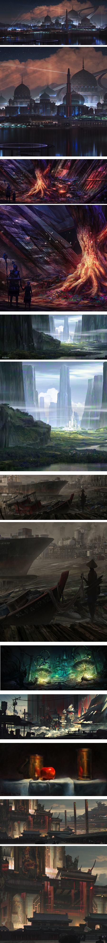 Ian Jun Wei Chiew, concept art and illustration