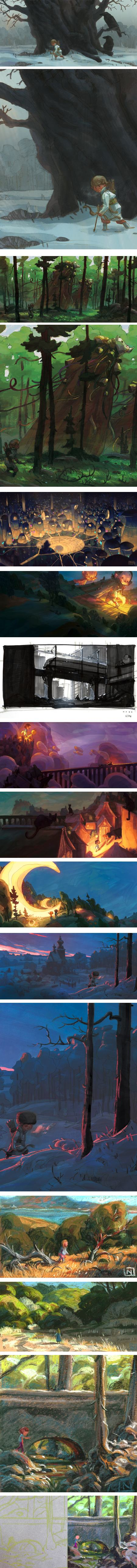 Noah Klocek, art director, production designer, concept artist, children's book illustrator, digital and pastel