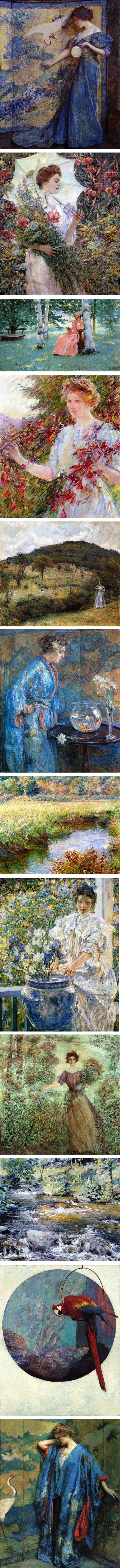 Robert Lewis Reid, American Impressionist and member of the Ten American Painters