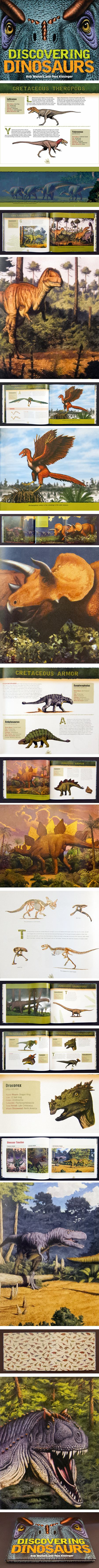 Discovering Dinosaurs, huge new dinosaur book by Bob Walters and Tess Kissinger