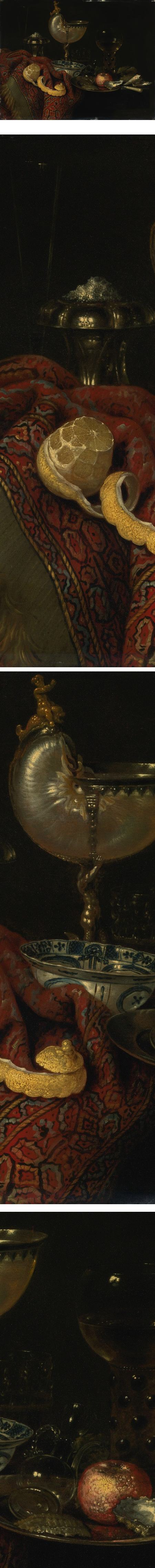 Still Life of Oysters, a Nautilus Cup, a Roemer, Lemon and Other Objects, Willem Claeszoon Heda