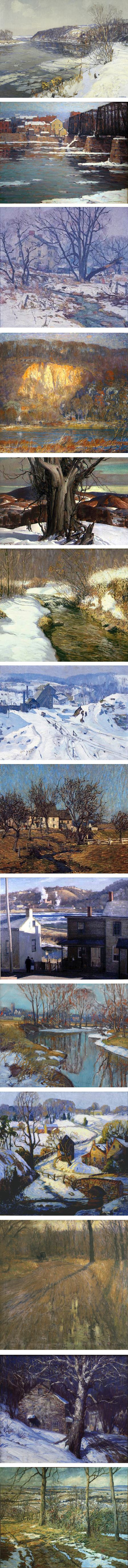 Pennsylvania Impressionists: Edward Redfield, John Folinsbee, Antonio Martino, Arthur Meltzer, Daniel Garber, Kenneth Nunamaker, Roy C. Nuse, Robert Spencer, Harry Leith-Ross, Walter Emerson Baum, Fern I. Coppage, William Lathrop, Geoge Sotter, Walter Schofield