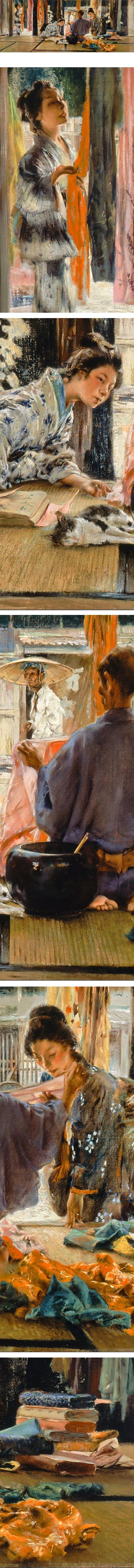 The Silk Merchant, Japan; Robert Frederick Blum