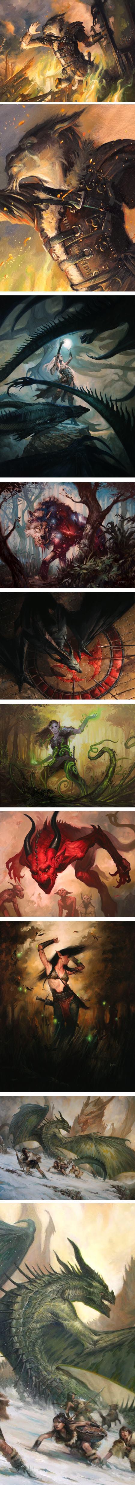 Lucas Graciano, fantasy illustration, dragons