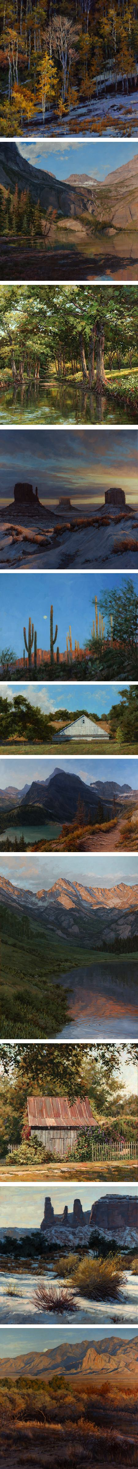 Darcie Peet, landscapes, mountains and desert