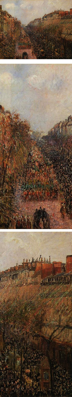 Boulevard Montmartre: Mardi Gras, Camille Pissarro