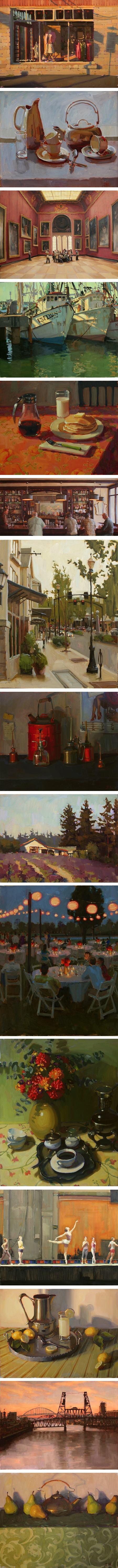 Jennifer Diehl, still life, landscape, cituscape, interiors, figurative painting