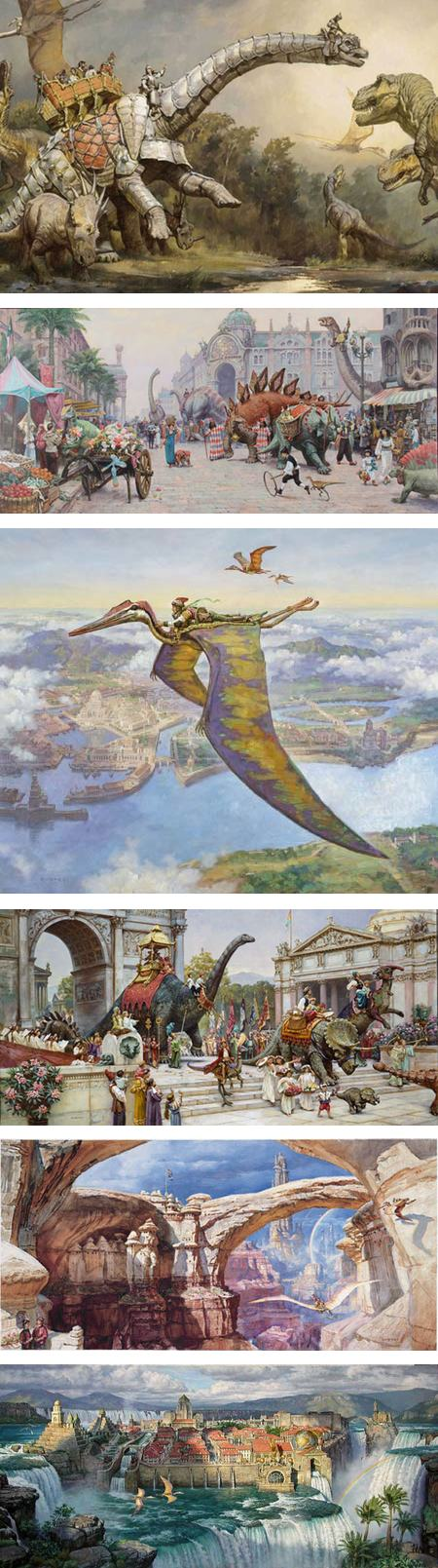 Dinotopia: The Fantastical Art of James Gurney at Stamford Museum