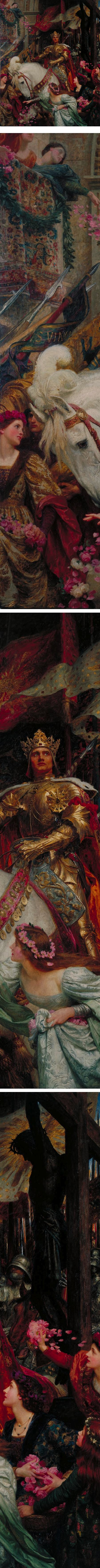 The Two Crowns, Sir Frank Dicksee