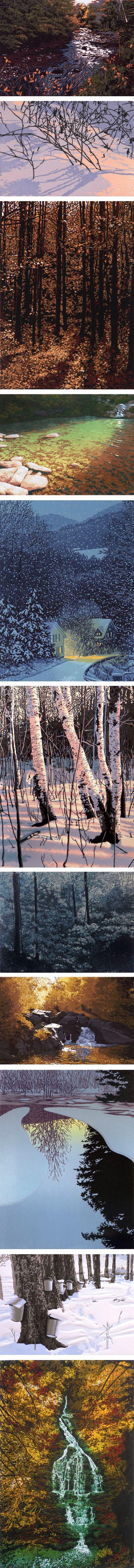 William Hays, reduction linocut prints