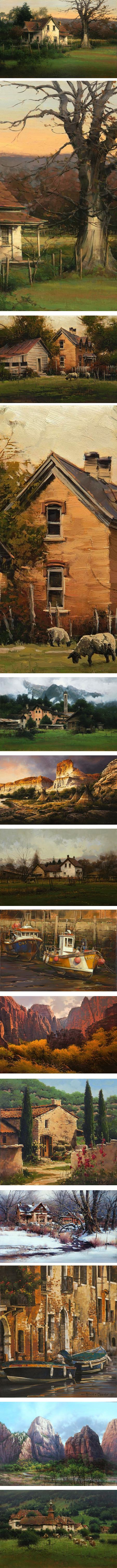 Bruce Cheever, landscape painting