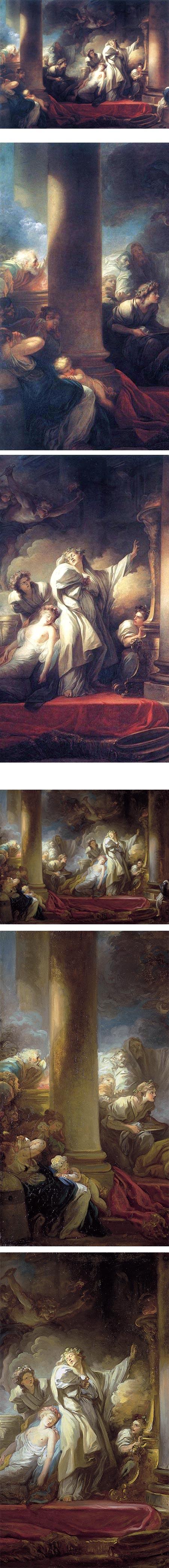 The High Priest Coresus Sacrificing Himself to Save Callirhoe, Jean-Honore Fragonard