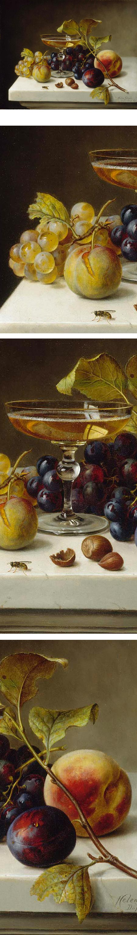 Still Life with Fruit and Champagne, Helen Searle