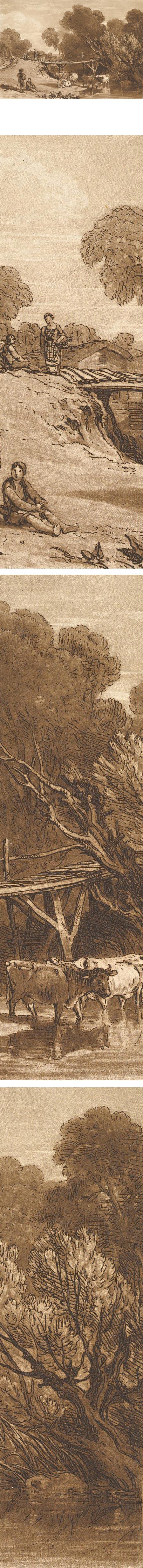 Bridge and Cows (Liber Studiorum, part I, plate 2), Joseph Mallord William Turner
