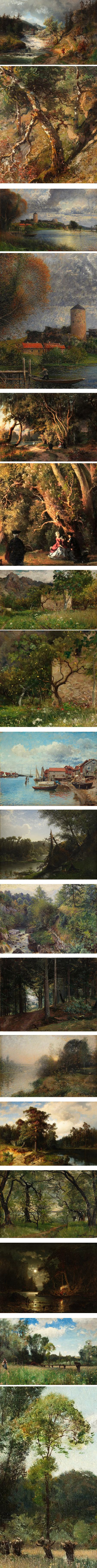 Alfred Wahlberg, Swedish landscape painter