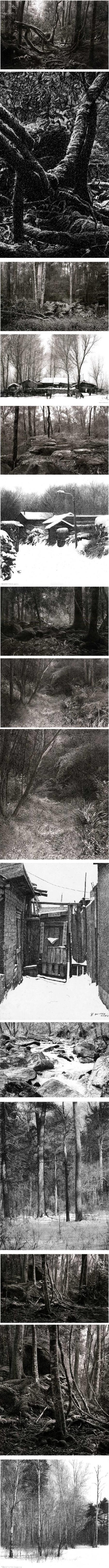 Yutang Yang, pen and ink