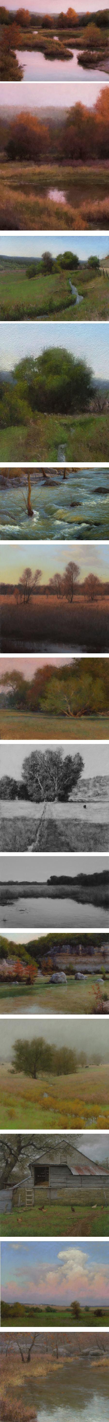 Denise La Rue Mahlke, pastel landscapes
