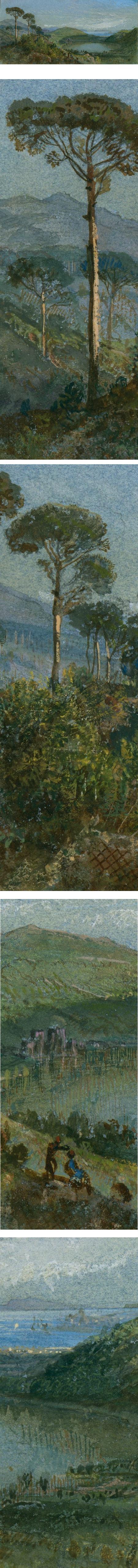 Lago Avernus, William Trost Richards, watercolor and gouache
