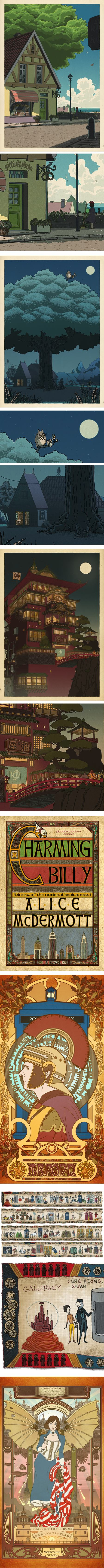 Bill Mudron, Miyazaki/Husi Dr. Who/Mucha prints