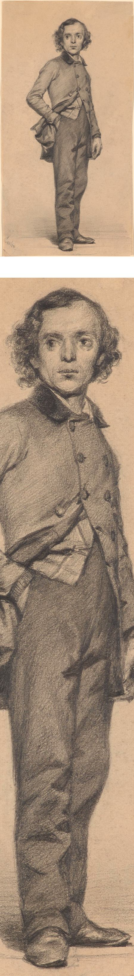 Carl John Arnold, Adolph Menzel, pencil drawing