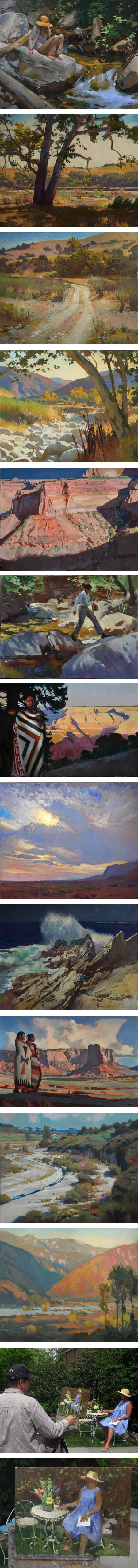 Reay Roberts, plein air landscapes and figures