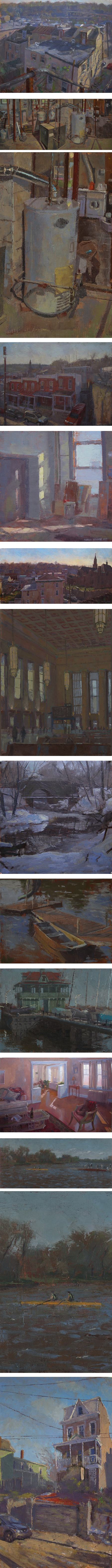 Charles Newman, plein air landscapes and interiors