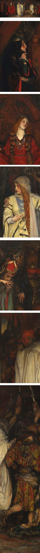 King Lear, Act I, Scene I; Edwin Austin Abbey
