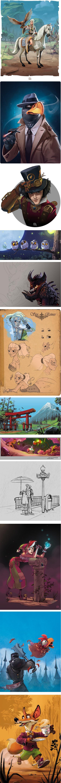 Fossard Christophe, AKA Biboun, illustrator, concept artist and character designer
