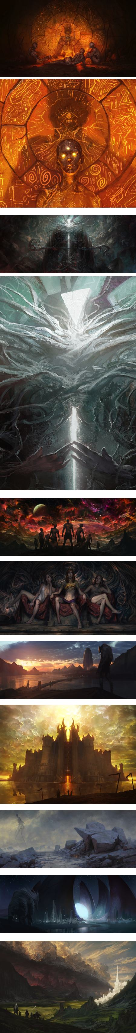 Noah Bradley, concept art and illustration