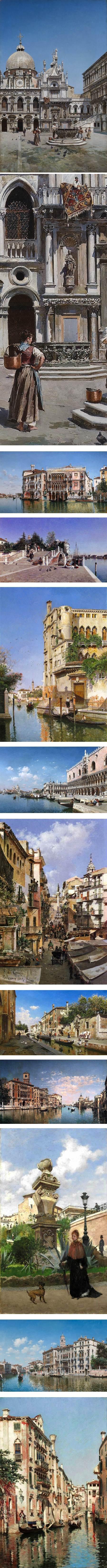 Federico del Campo, scenes of Venice