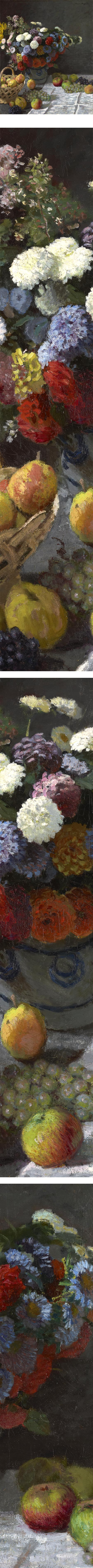 Still Life with Flowers and Fruit, Claude Monet