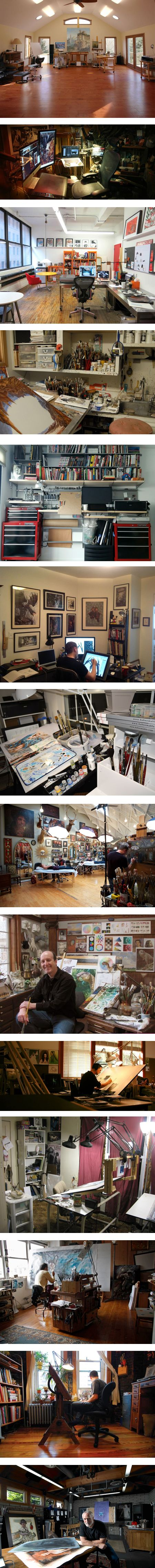 Artists studios: Tom Kidd, Andrew