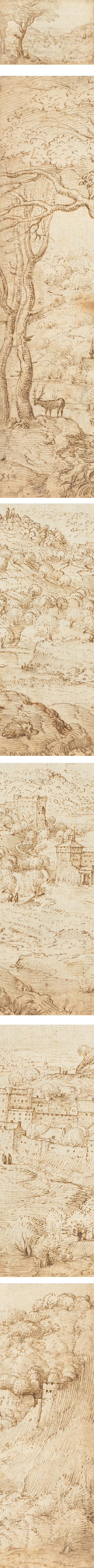 Landscape with the Penitence of Saint Jerome, Pieter Bruegel the Elder, pen and brown ink