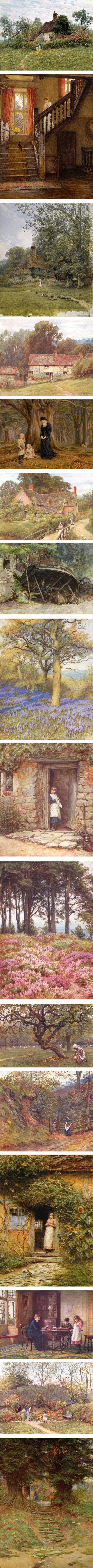 Helen Allingham, 19th century watercolor