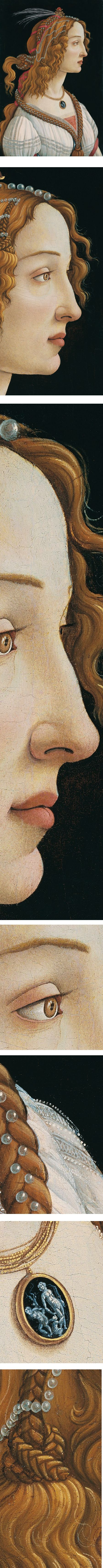 Idealized Portrait of a Lady (Portrait of Simonetta Vespucci as Nymph), Sandro Botticelli