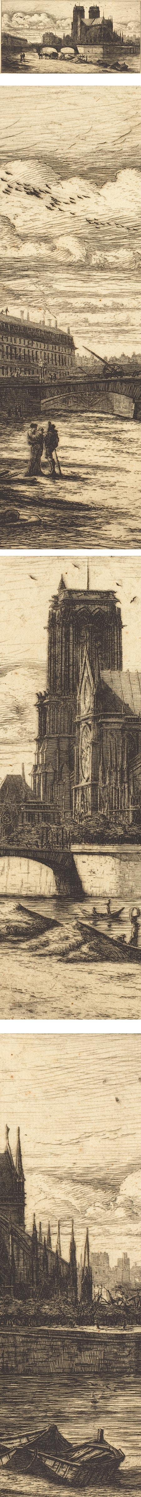 L'abside de Notre-Dame de Paris</a></em> (The Apsis of the Cathedral of Notre Dame, Paris), Charles Meryon, etching&#8221;  /><br /> <em><a href=