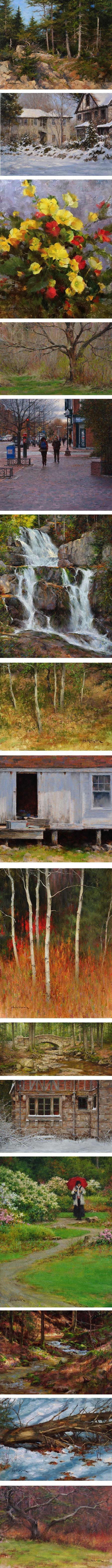 Steven Hileman, landscape and still life paintings