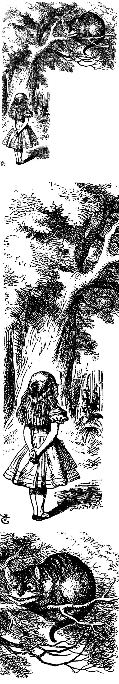 John Tenniel's Cheshire Cat for Alice's Adventures in Wonderland