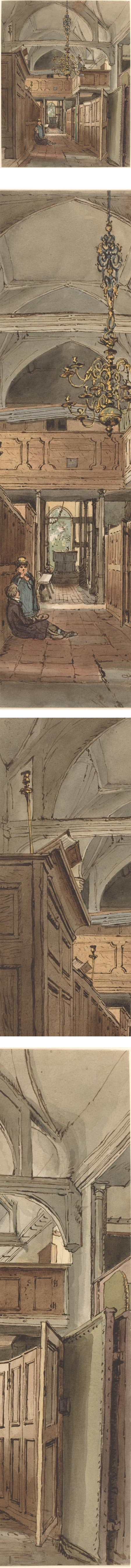 Interior of Bushey Church, William Henry Hunt
