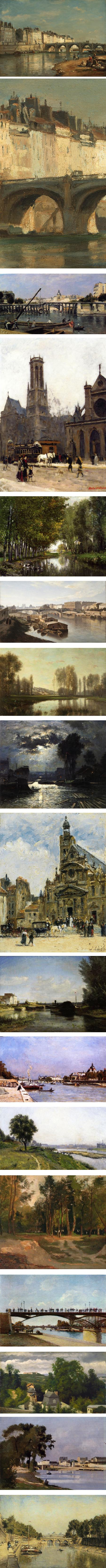 Stanislas Lepine, pre-Impressionist scenes of paris, the Seine, Normandy and nearby villages