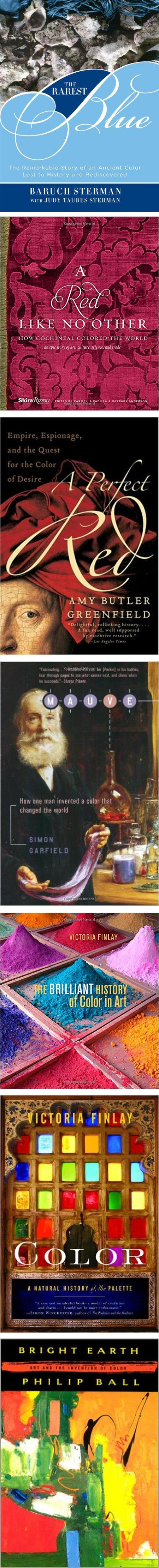 Books on the history of pigments and colors