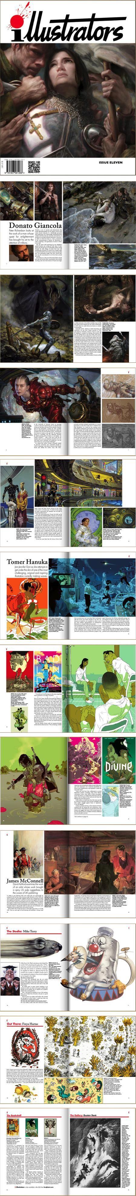 Illustrators Magazine Issue Eleven; Donato Giancola, Tomer Hanuka, Kames McConnell, Mike Terry, Freya Hartas, Gustave Dore