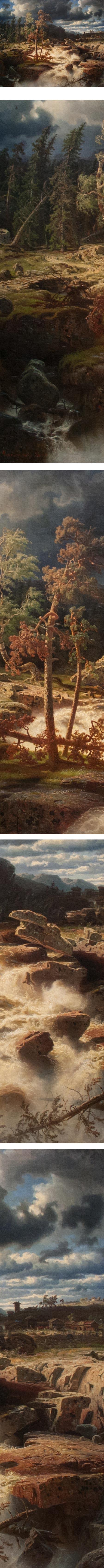 Waterfall in Smaland, Marcus Larson